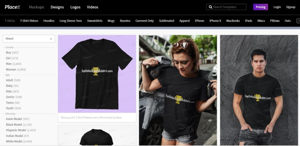 Placeit T-Shirt Mockups Example